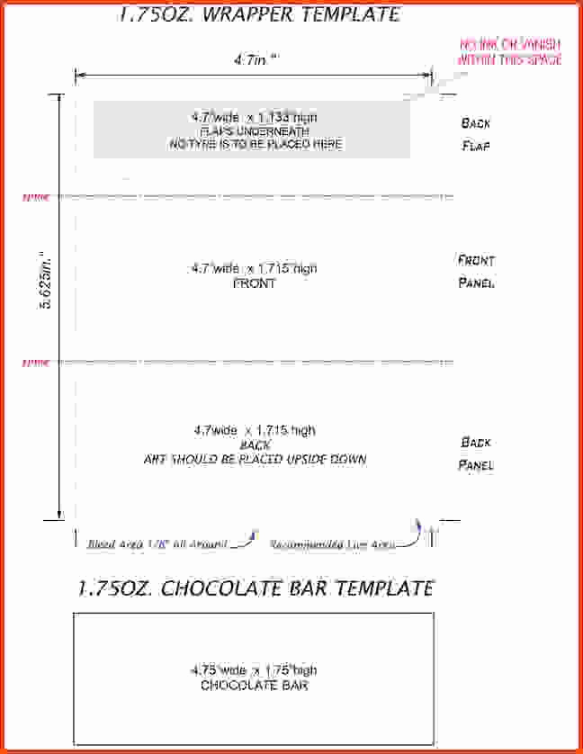 Hershey Bar Wrapper Template New Hershey Bar Wrapper Template