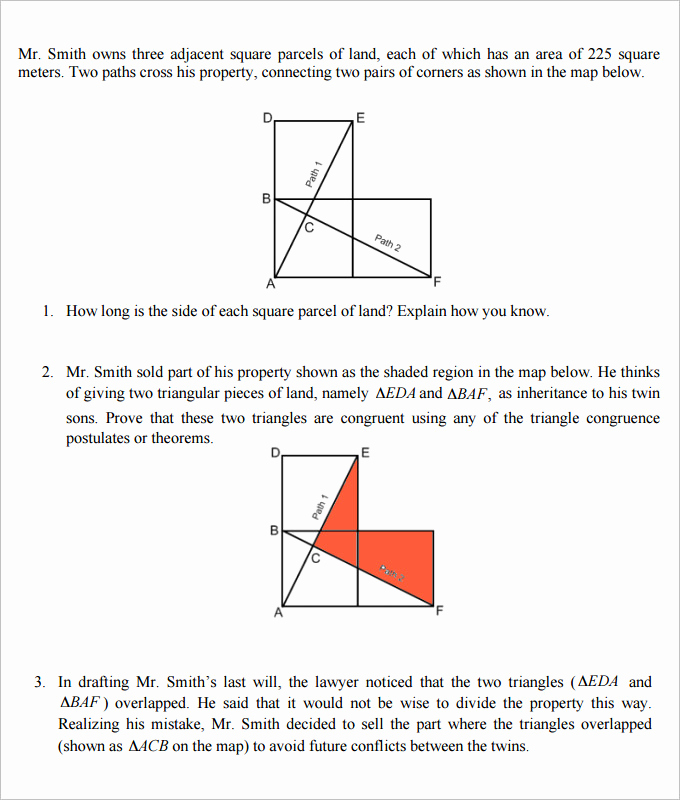 High School Geometry Worksheets Beautiful 16 Sample High School Geometry Worksheet Templates