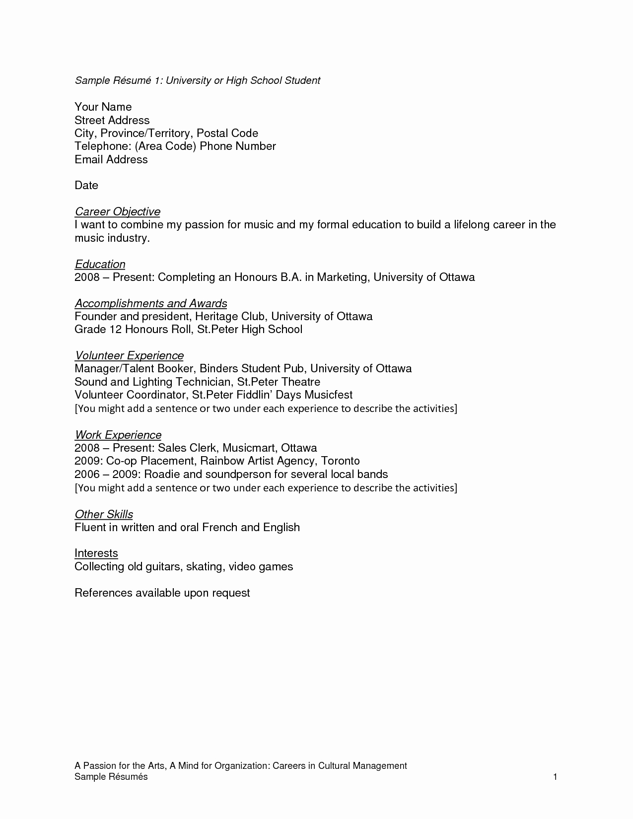 High School Student Resume Examples Unique Pin by Resumejob On Resume Job