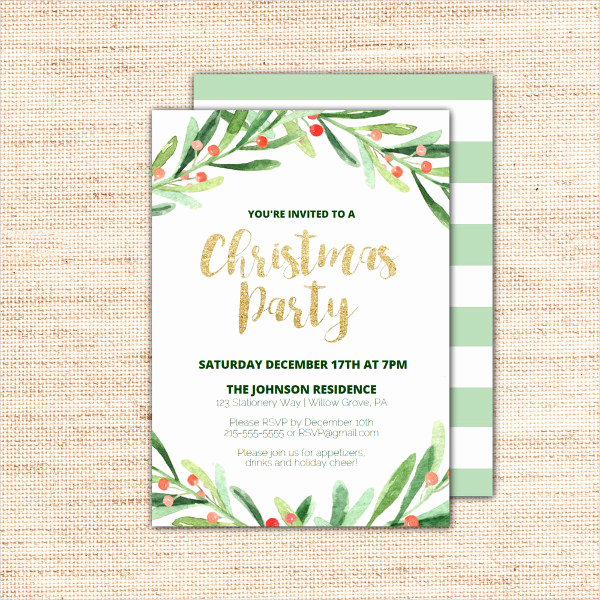 Holiday Party Invitation Template Awesome 20 Christmas Party Invitation Templates Christmas Party