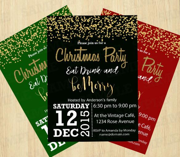 Holiday Party Invitation Template Beautiful 32 Christmas Invitation Templates Psd Ai Word