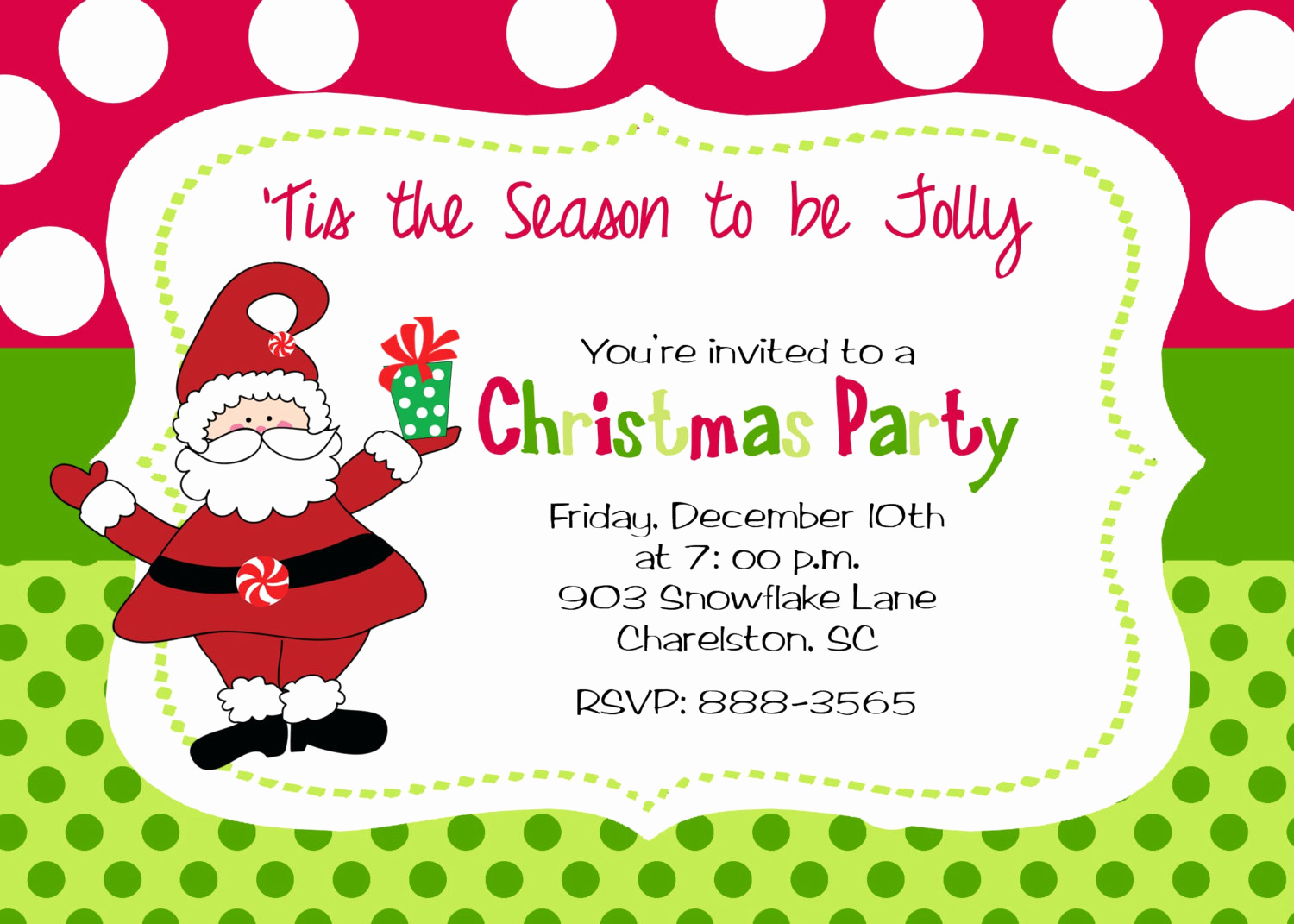 Holiday Party Invitation Template Beautiful Christmas Party Invitation