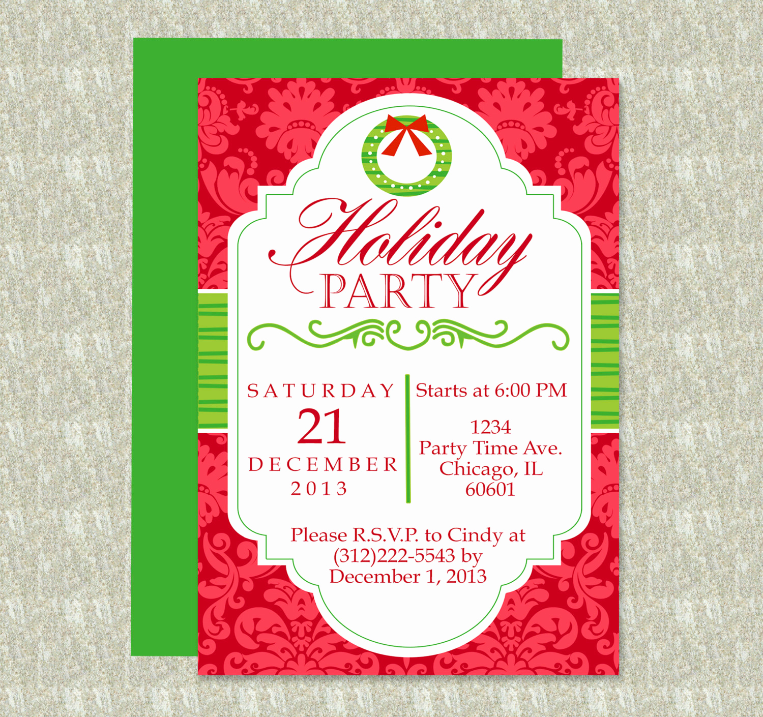 Holiday Party Invitation Template Beautiful Holiday Party Invitation Editable Template Microsoft Word