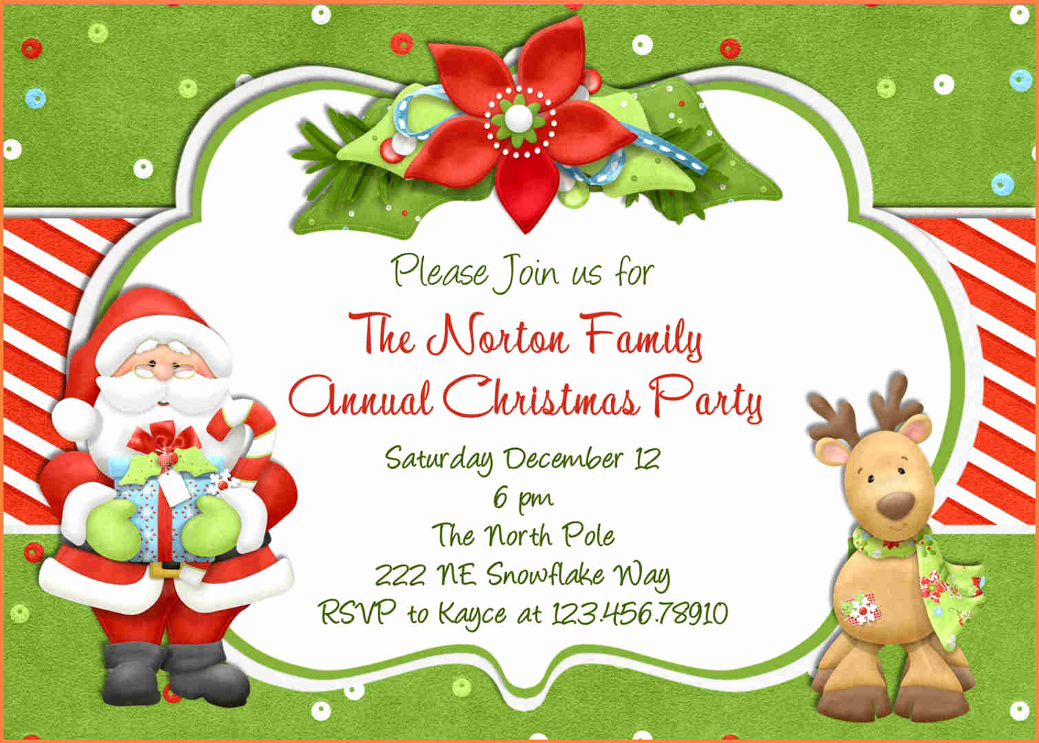 Holiday Party Invitation Template Fresh 15 Christmas Party Invitation Template