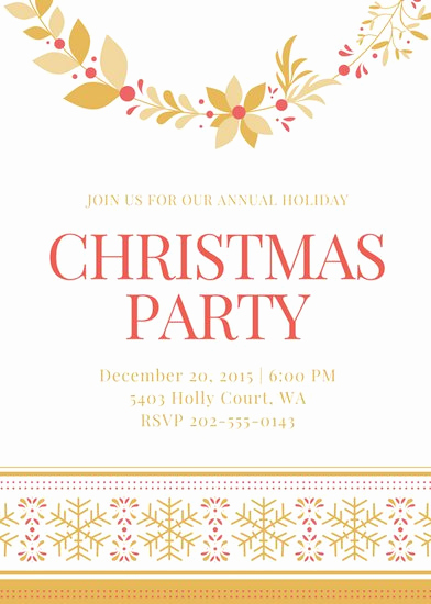 Holiday Party Invitation Template Fresh Customize 3 999 Party Invitation Templates Online Canva
