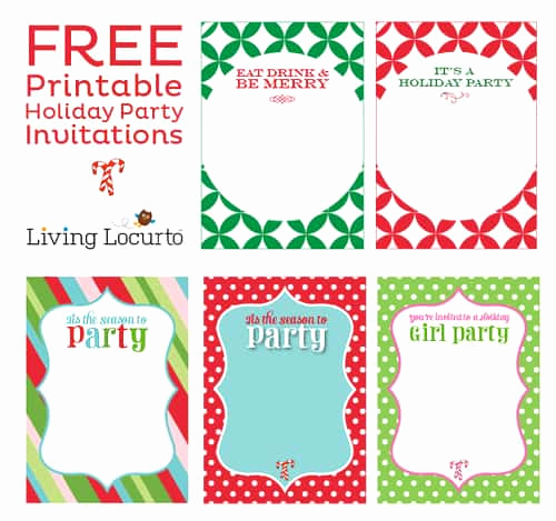 Holiday Party Invitation Template Fresh Free Printable Diy Holiday Party Invitations