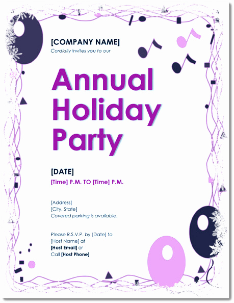 Holiday Party Invitation Template Inspirational Free Holiday Party Invitations – 9 Templates In Pdf Word