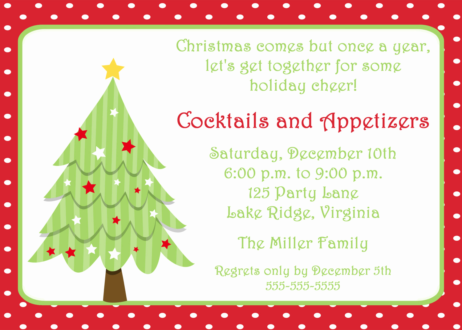Holiday Party Invitation Template Lovely Printable Christmas Tree Invitation by Noteworthyprintables