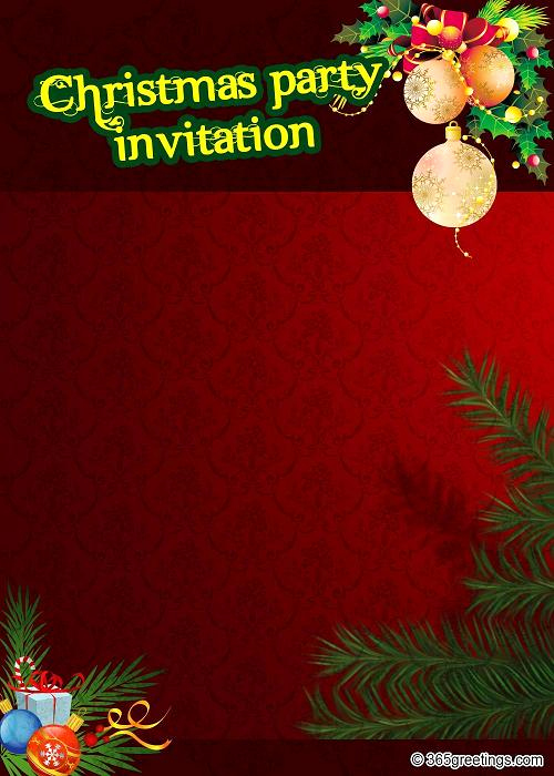 Holiday Party Invitation Template Lovely top Christmas Invitations for This Christmas Easyday