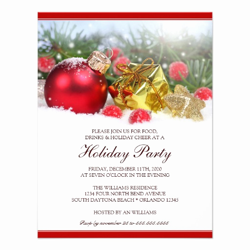 """Holiday Party Invitation Template Lovely Unique Holiday Party Invitation Template 4 25"""" X 5 5"""