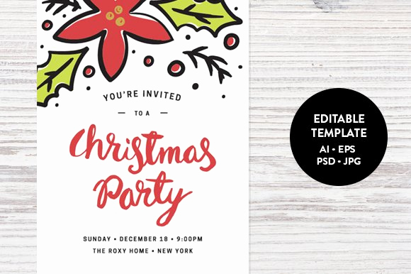 Holiday Party Invitation Template New Christmas Party Invitation Template Invitation Templates