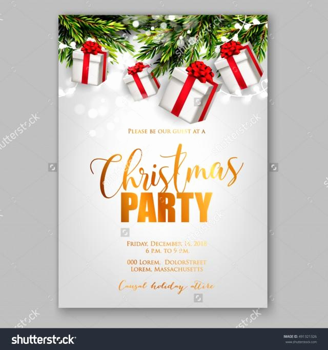 Holiday Party Invitation Template New Merry Christmas Party Invitation and Happy New Year Party