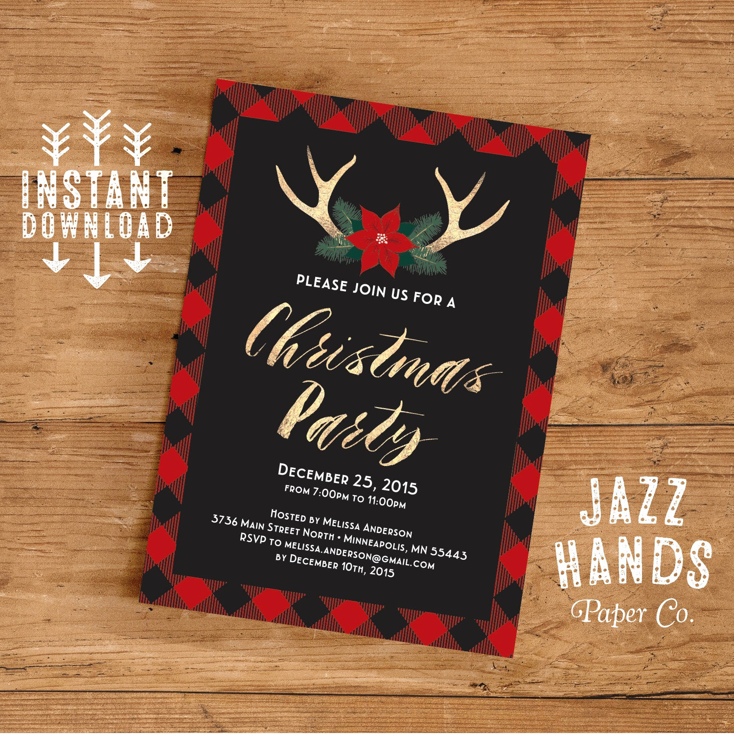 Holiday Party Invitation Template Unique Christmas Party Invitation Template Diy Printable Holiday