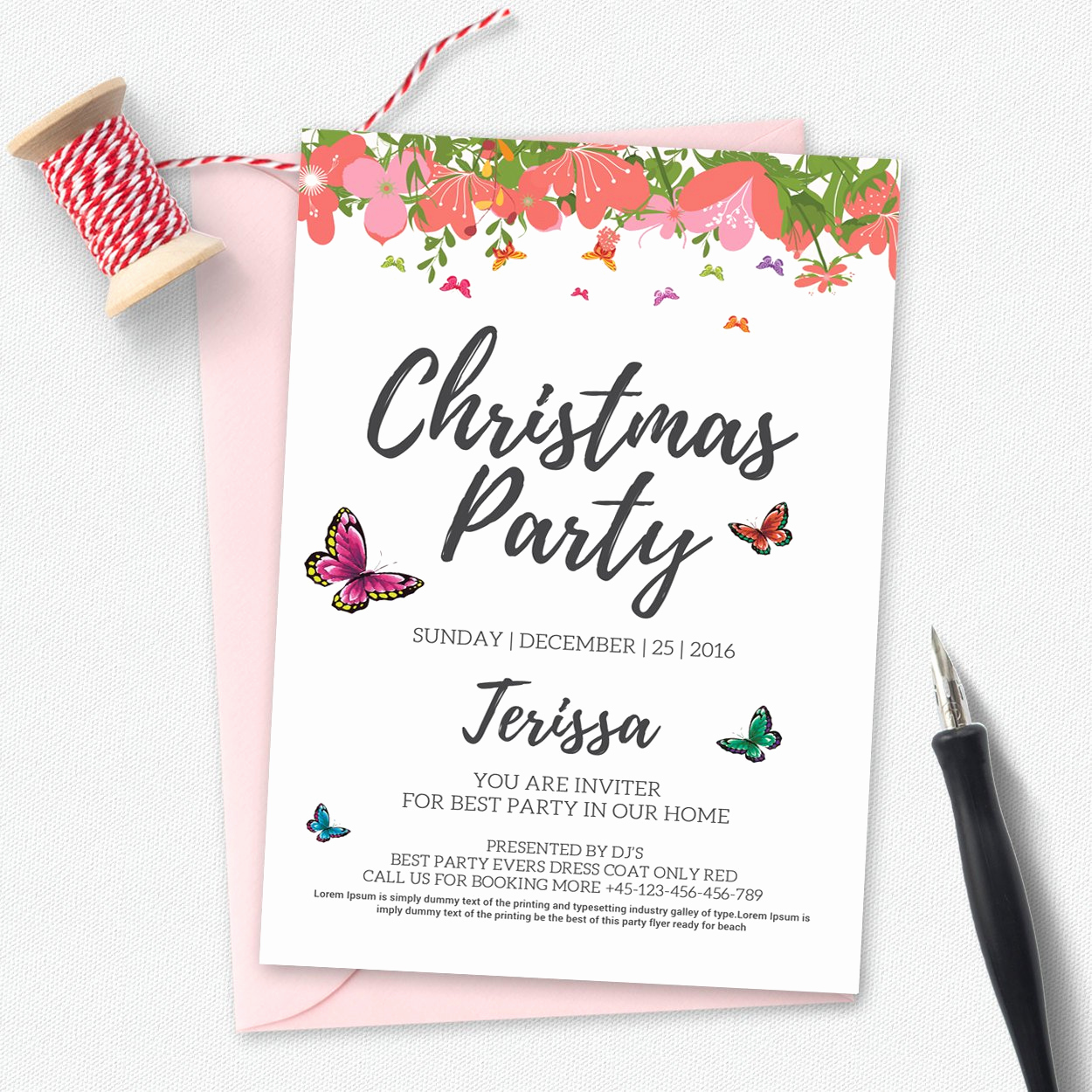 Holiday Party Invitation Template Unique Christmas Party Invitation Template Invitation Templates