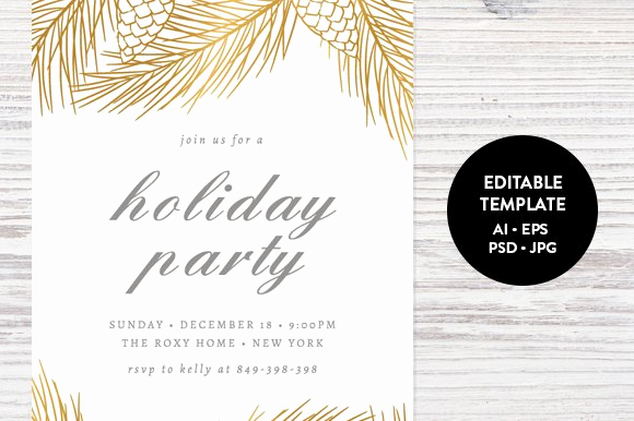 Holiday Party Invitation Template Unique Holiday Party Invitation Template Invitation Templates