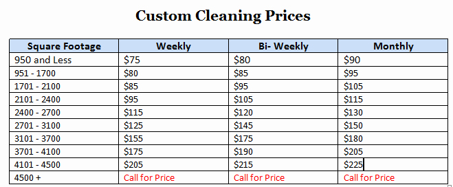 Home Cleaning Services Price List New Professional Home & Fice Cleaning Services