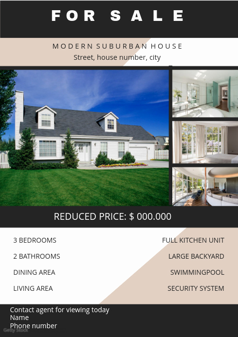 Home for Sale Flyer Awesome Home Sale Flyer Template