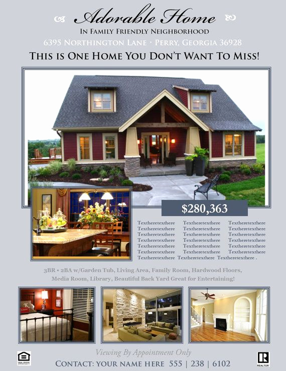 Home for Sale Flyer Beautiful Real Estate Flyer Template Microsoft Publisher Template