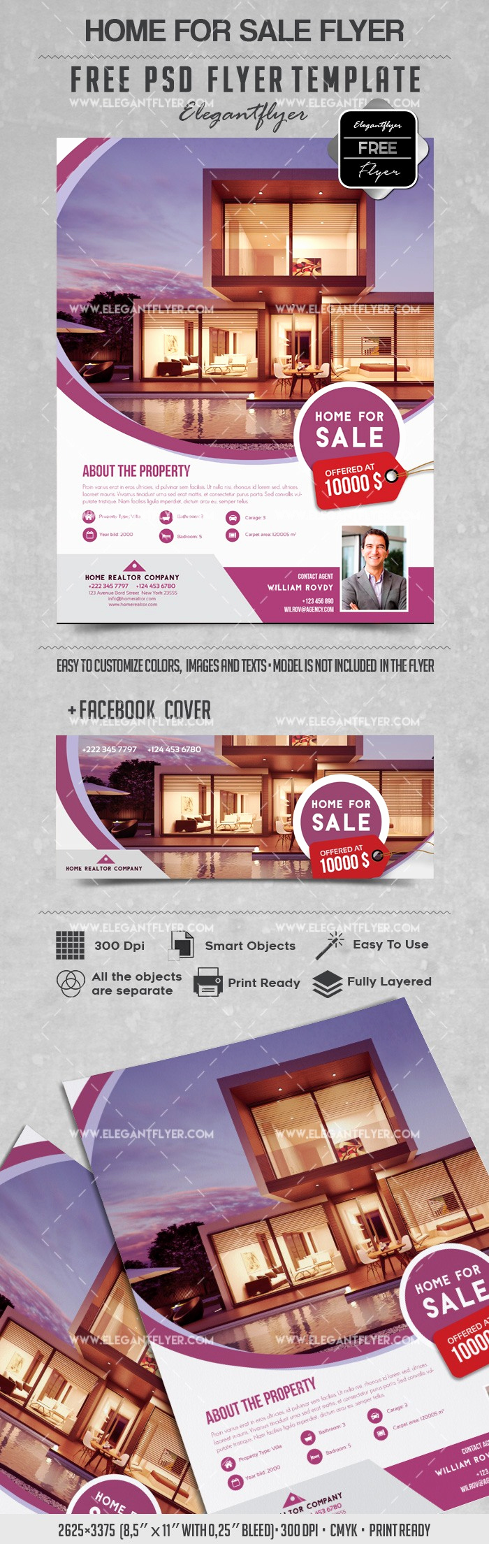 Home for Sale Flyer Lovely Home for Sale – Flyer Psd Template – by Elegantflyer