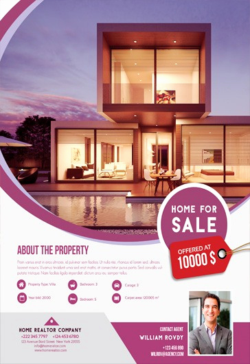 Home for Sale Flyer Luxury Home for Sale – Flyer Psd Template – by Elegantflyer