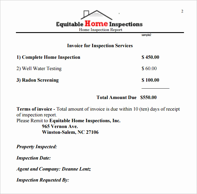 Home Inspection Report Template Beautiful 10 Sample Home Inspection Report Templates Word Docs