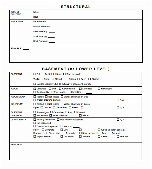 Home Inspection Report Template Elegant 12 Sample Home Inspection Reports Docs Word Pages
