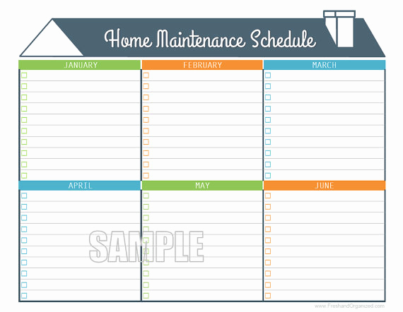 Home Maintenance Checklist Printable Luxury Home Maintenance Schedule Home Maintenance Calendar