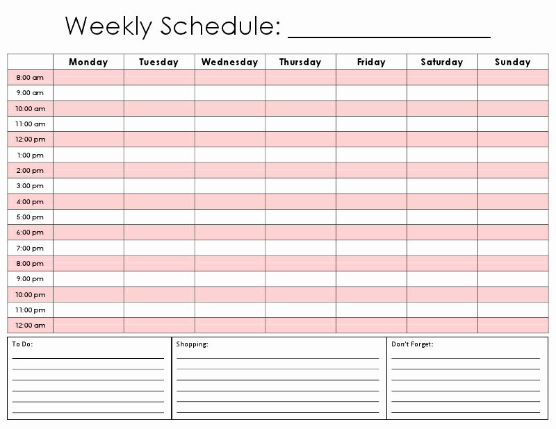 Hourly Schedule Template Excel Lovely totally Printed A ton Of these Right now Abode