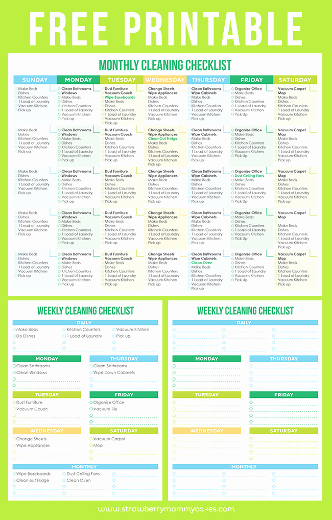 House Cleaning Checklist Template Best Of Maintain A Clean Home Printable Cleaning Schedule