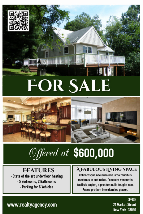 House for Sale Flyer Awesome House for Sale Flyer Poster Real Estate Template