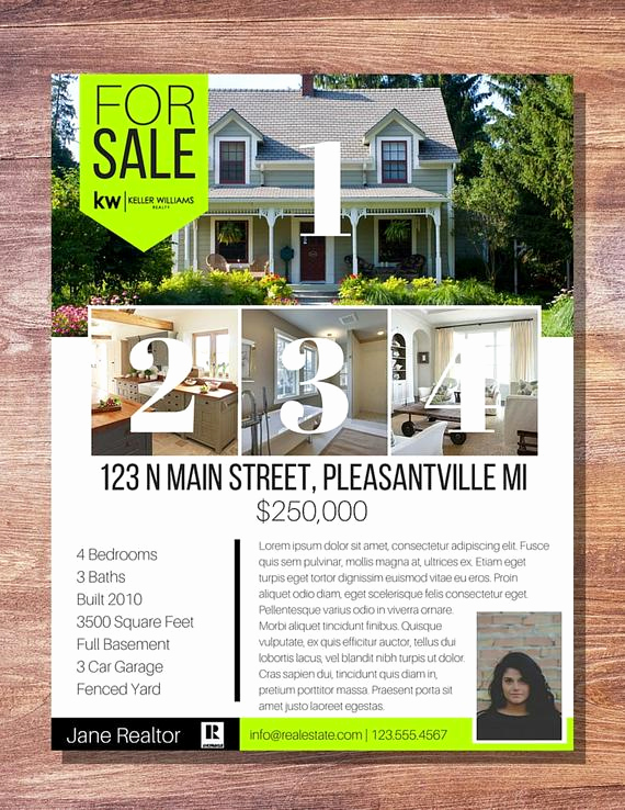 House for Sale Flyer Awesome Modern Banner Real Estate for Sale Flyer 1