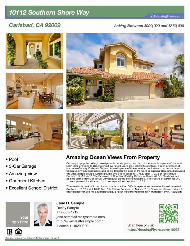 House for Sale Flyer Beautiful Real Estate Flyer with 6 S Customize This Flyer with