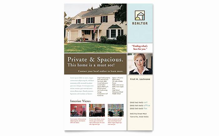 House for Sale Flyer Elegant House for Sale Real Estate Flyer Template Design