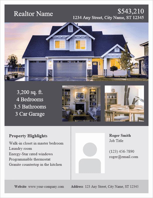 House for Sale Flyer Elegant Real Estate Flyer Template for Word