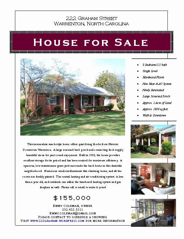 House for Sale Flyer Fresh Graphic Design
