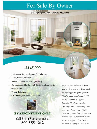 House for Sale Flyer Fresh Modern Flyer for Sale by Owner