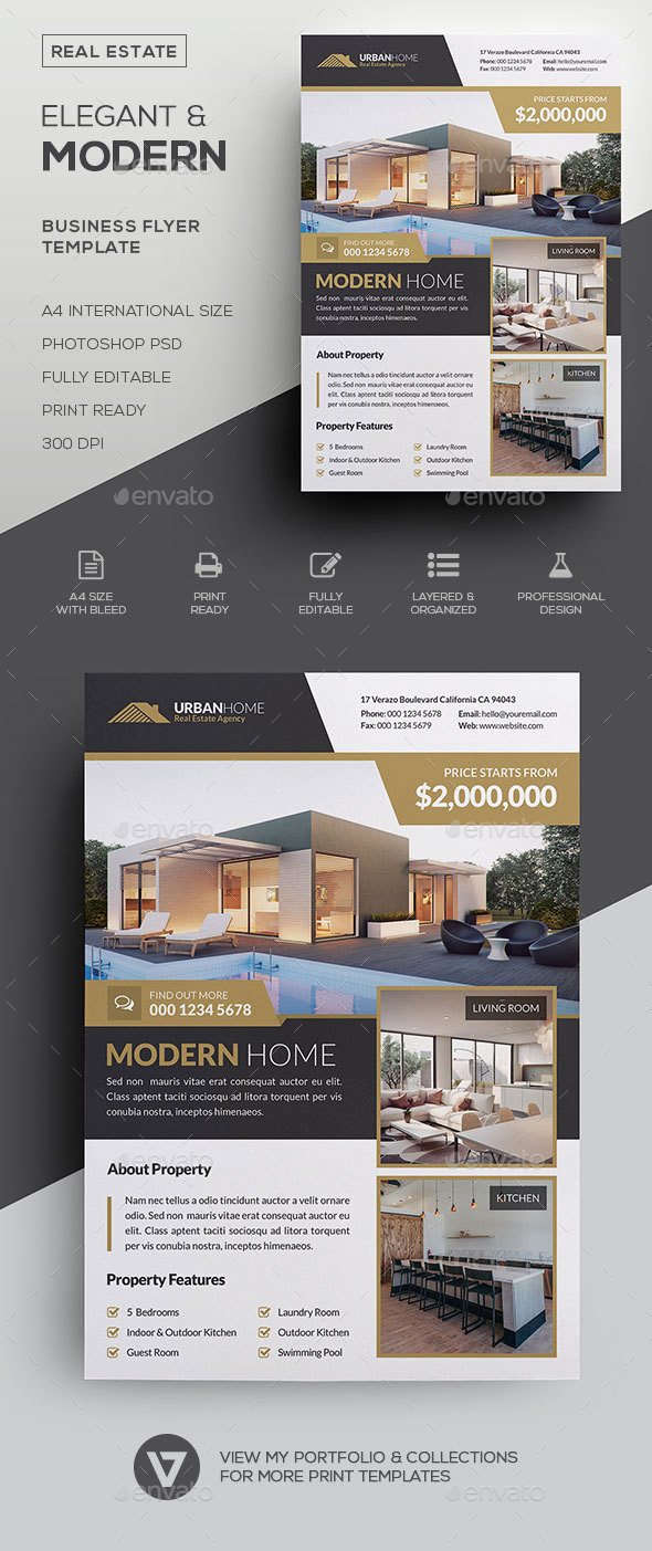 House for Sale Flyer Lovely Real Estate Flyer by Verazo