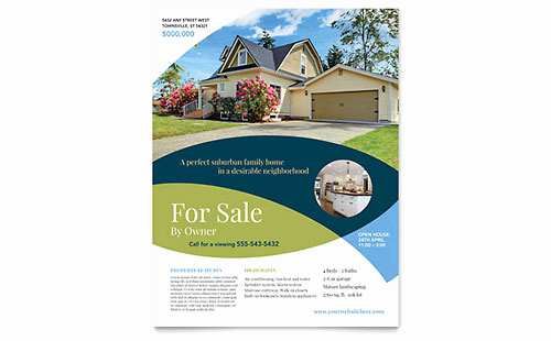 House for Sale Flyer Lovely Real Estate Flyers