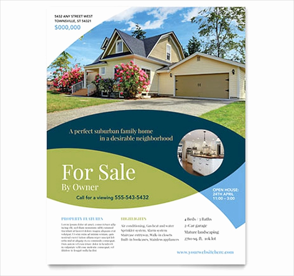 House for Sale Flyer Luxury 40 Real Estate Flyer Templates Ai Word Psd Eps