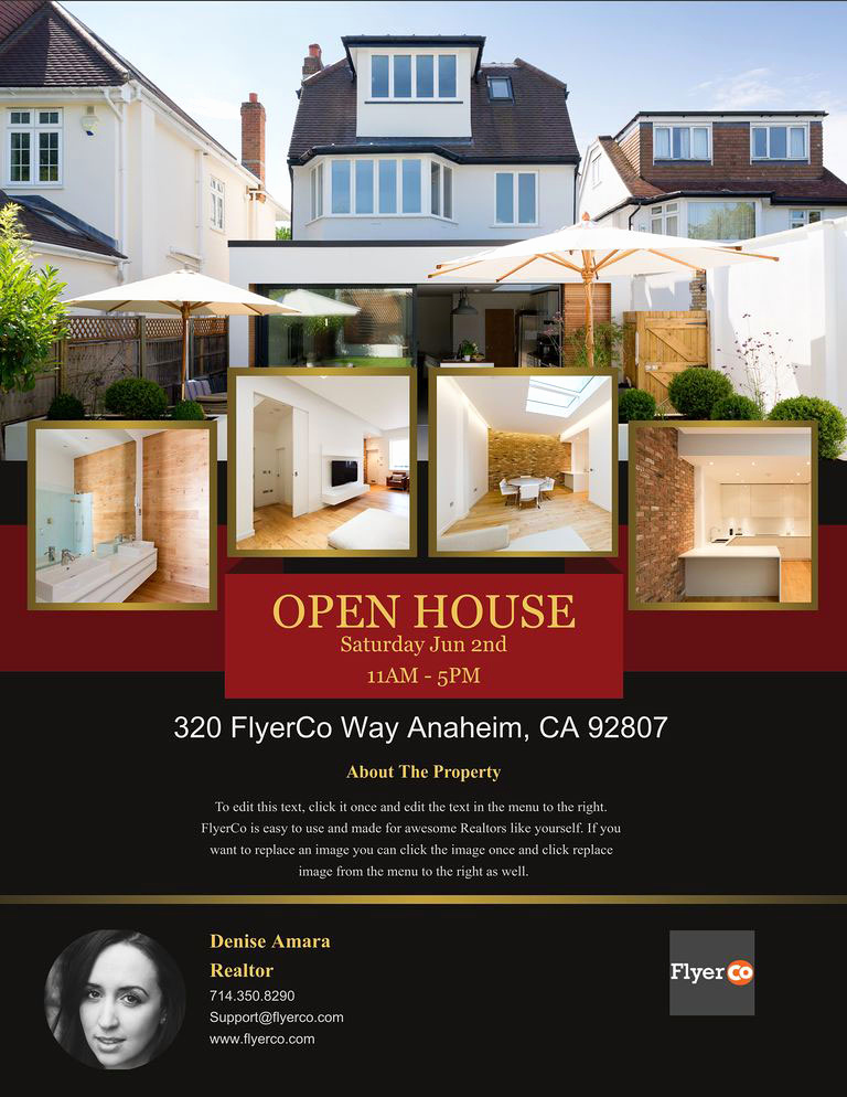 House for Sale Flyer Luxury Design Winning Open House Flyers that Close Sales Real