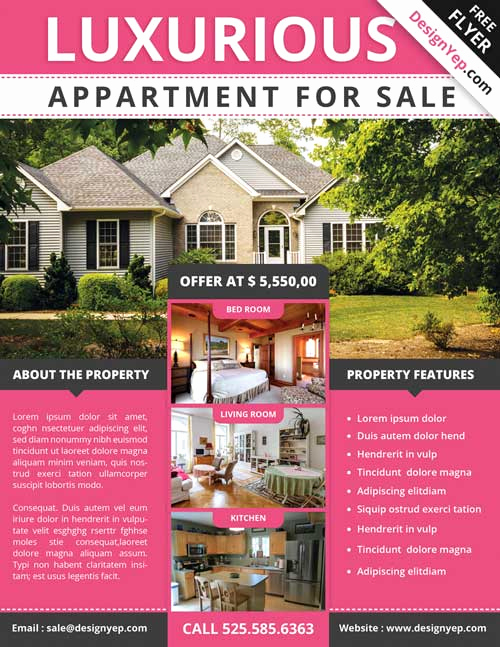 House for Sale Flyer Luxury Download Free Real Estate Flyer Psd Flyer Template