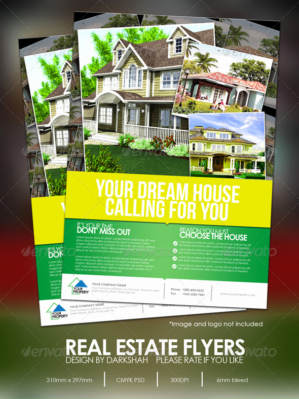 House for Sale Flyer New Print Template Graphicriver Real Estate Modern Flyers
