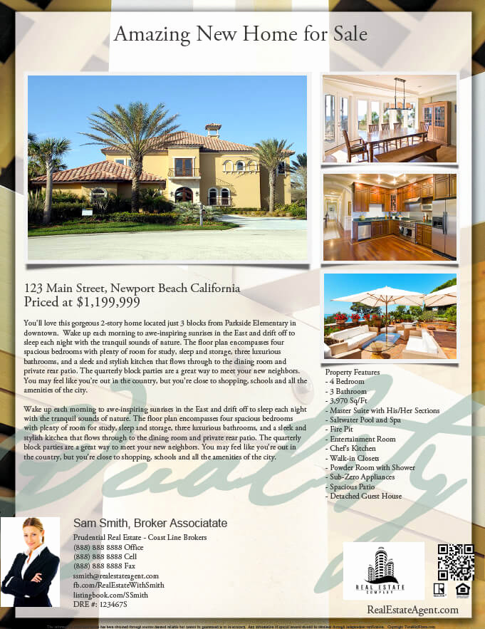 House for Sale Flyer New Real Estate Flyers Pdf Templates Turnkey Flyers