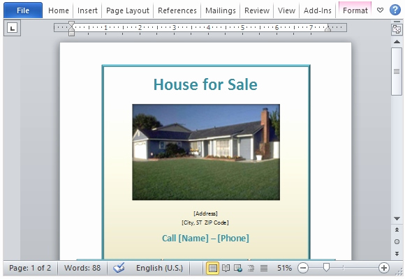 House for Sale Flyer Unique House for Sale Flyer Template for Word