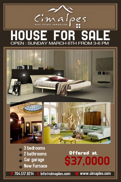 House for Sale Flyer Unique Real Estate Flyer Template