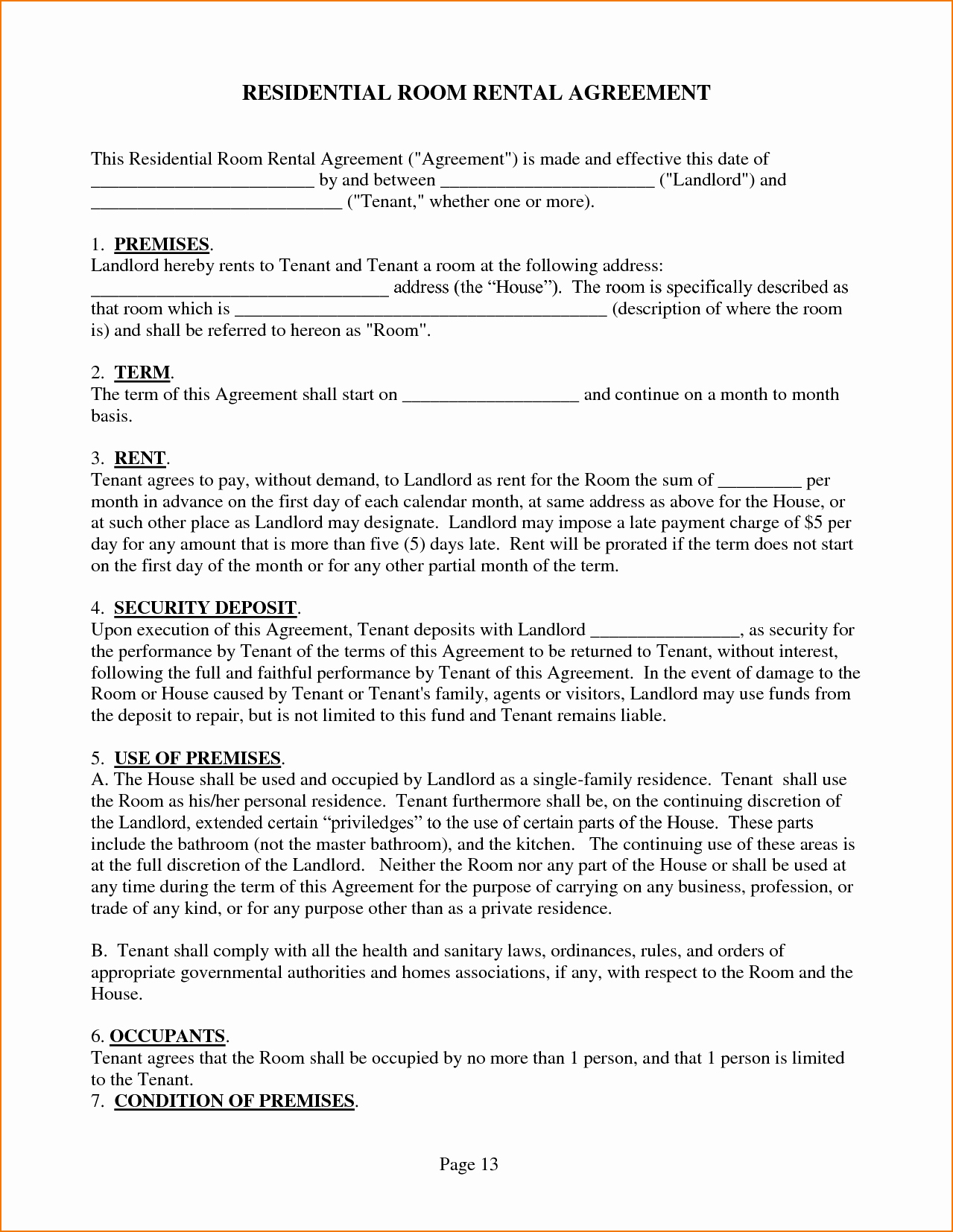 House Rental Agreement Template Elegant 5 House Rental Agreement Template