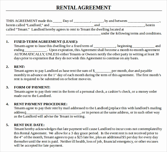 House Rental Agreement Template Luxury 13 House Lease Agreement Templates Free Download