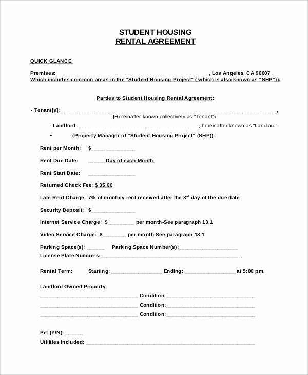 House Rental Agreement Template Luxury Sample House Rental Agreement 19 Examples In Pdf Word