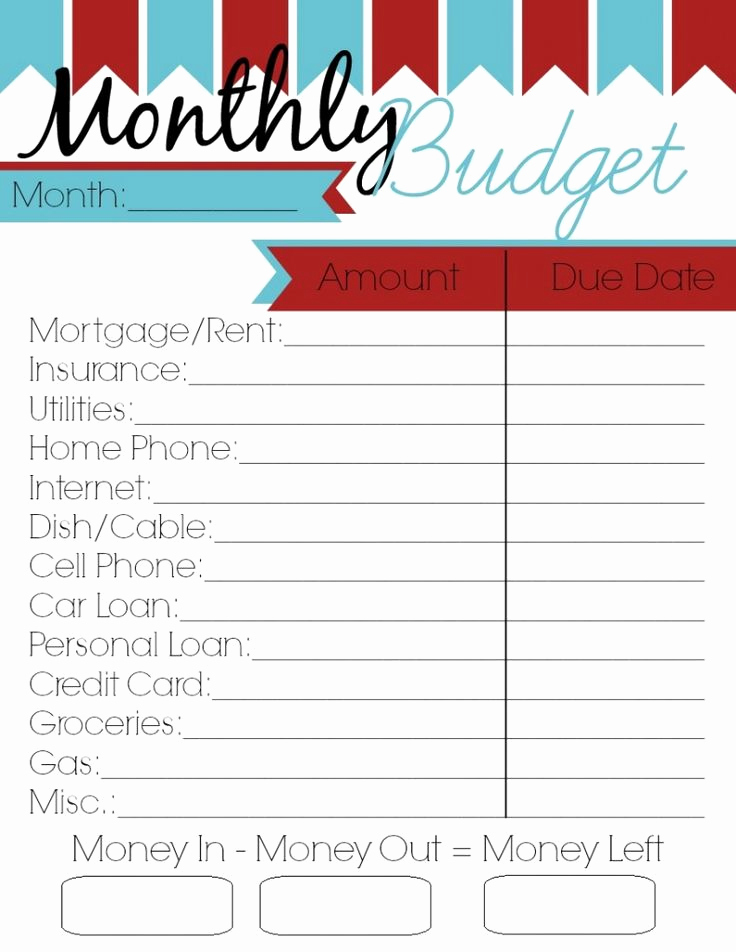 Household Budget Template Printable Beautiful Monthly Bud Printable Woman Of Many Roles