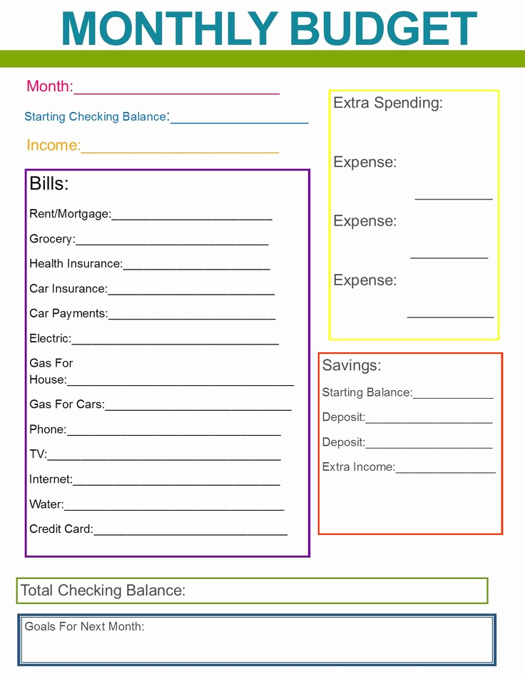 Household Budget Template Printable Fresh Best 25 Monthly Bud Ideas On Pinterest